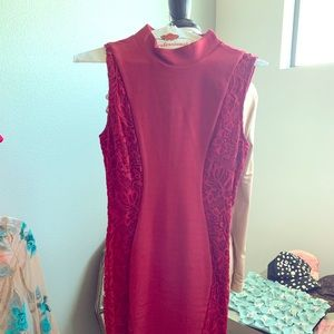 Long elegant red dress!